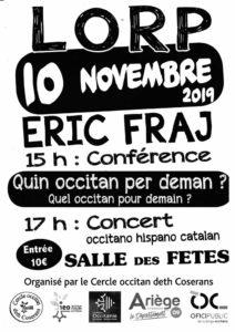 affiche pour conférence concert 10 novembre 2019