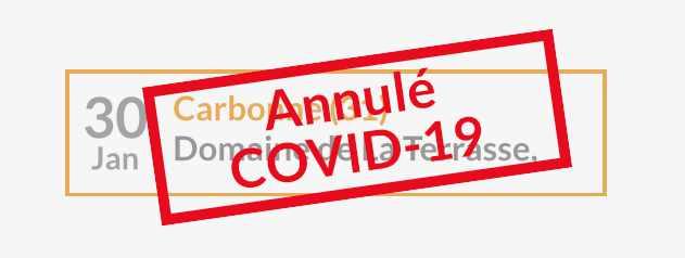 Date annulée pour cause de COVID-19